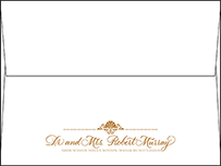 Rosecliff Letterpress Envelope Design Small