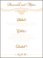 Rosecliff Letterpress Menu Design Small