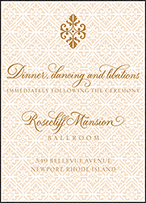 Rosecliff Letterpress Reception Design Small