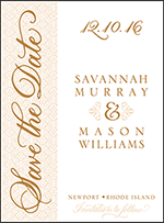 Rosecliff Letterpress Save The Date Design Small