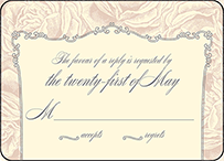 Roslyn Frame Letterpress Reply Design Small