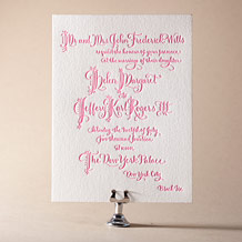 Royal Calligraphy Letterpress Invitation Design Small
