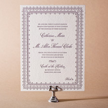 Royal Frame Letterpress Invitation Design Small