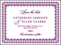Royal Frame Letterpress Save The Date Design Small