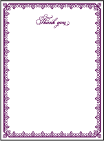 Royal Frame Letterpress Thank You Card Flat Design Small