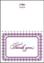 Royal Frame Letterpress Thank You Card Fold Design Small