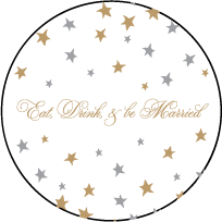 Royal Night Letterpress Coaster Design Small