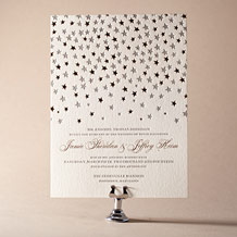 Royal Night Letterpress Invitation Design Small