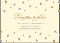 Royal Night Letterpress Reception Design Small