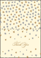 Royal Night Letterpress Thank You Card Fold Design Small