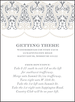Royal Valance Letterpress Direction Design Small