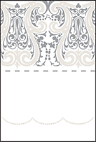 Royal Valance Letterpress Placecard Fold Design Small