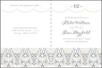Royal Valance Letterpress Program Design Small