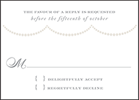 Royal Valance Letterpress Reply Design Small