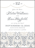 Royal Valance Letterpress Save The Date Design Small