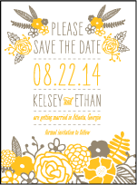Rustic Jolene Letterpress Save The Date Design Small