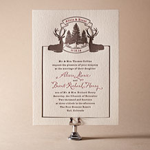 Rustic Lookout Letterpress Invitation Design Small