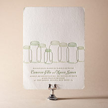 Rustic Summer Letterpress Invitation Design Small