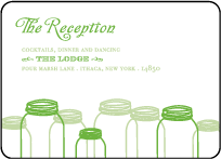 Rustic Summer Letterpress Reception Design Small