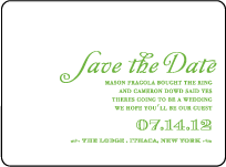 Rustic Summer Letterpress Save The Date Design Small