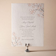 Sakura Letterpress Invitation Design Small