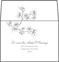 Sakura Letterpress Reply Envelope Design Small