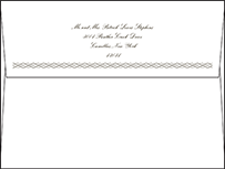 Sampler Letterpress Envelope Design Small