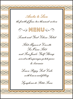 Sampler Letterpress Menu Design Small