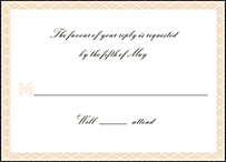 Sampler Letterpress Reply Design Small