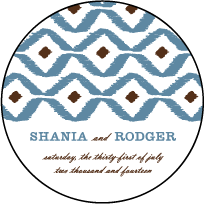 Santa Fe Letterpress Coaster Design Small