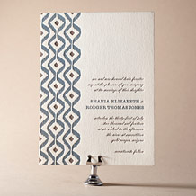 Santa Fe Letterpress Invitation Design Small