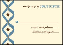 Santa Fe Letterpress Reply Design Small