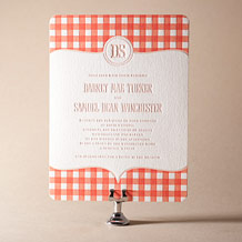 Savannah Letterpress Invitation Design Small