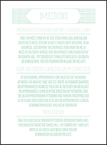 Sellick Modern Letterpress Direction Design Small