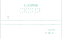 Sellick Modern Letterpress Reply Postcard Front Design Small