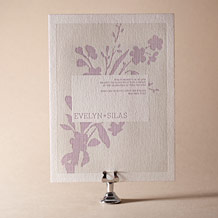 Serenade Letterpress Invitation Design Small