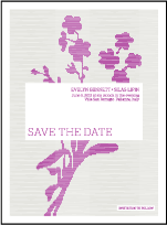 Serenade Letterpress Save The Date Design Small