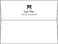 Simple Bow Letterpress Envelope Design Small