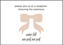 Simple Bow Letterpress Reception Design Small