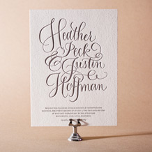 Simple Charms Letterpress Invitation Design Small