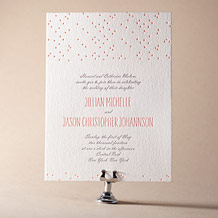 Simple Dot Letterpress Invitation Design Small