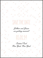 Simple Dot Letterpress Save The Date Design Small