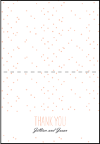 Simple Dot Letterpress Thank You Card Fold Design Small