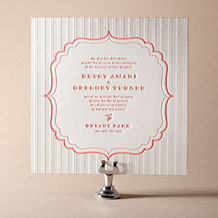 Simple Frame Letterpress Invitation Design Small