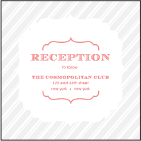 Simple Frame Letterpress Reception Design Small