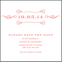 Simple Frame Letterpress Save The Date Design Small