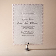 Simple Stripes Letterpress Invitation Design Small