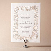 Soho Letterpress Invitation Design Small