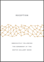 Soho Letterpress Reception Design Small
