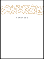 Soho Letterpress Thank You Card Flat Design Small